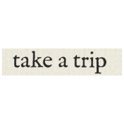 New Years Resolutions- Take a Trip