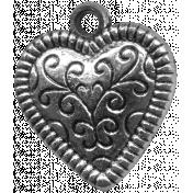 Heart Charms - Template - Heart 1