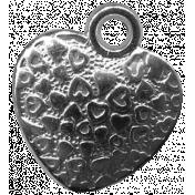 Heart Charms- Template- Heart 2