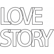 Special Day Elements- Love Story Word Art
