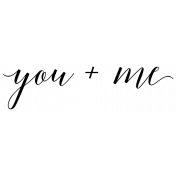 Special Day Elements- You Plus Me Word Art