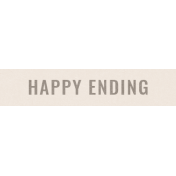 Special Day Elements- Word Strip Happy Ending