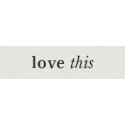 Special Day Elements- Word Strip Love This