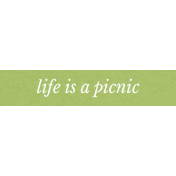 Picnic Day Elements- Word Strip Life