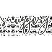 Cozy Day Elements- Snuggery Sticker
