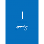 Back To Basics Month Cards- January 61