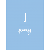 Back To Basics Month Cards- January 64