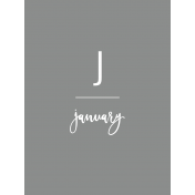 Back To Basics Month Cards- January 70