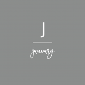 Back To Basics Month Cards- January 72