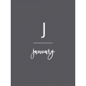 Back To Basics Month Cards- January 73