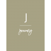 Back To Basics Month Cards- January 76