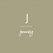 Back To Basics Month Cards- January 78