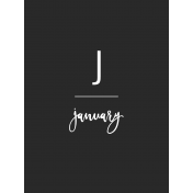 Back To Basics Month Cards- January 79
