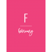 Back To Basics Month Cards- February 4