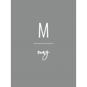 Back to Basics Month Cards- May 70