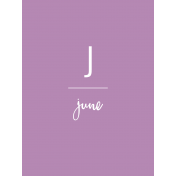 Back to Basics Month Cards- June 49