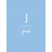 Back to Basics Month Cards- June 64