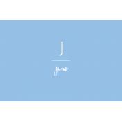 Back to Basics Month Cards- June 65