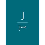 Back to Basics Month Cards- June 67