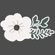 Winter Day Elements- Cream Flower