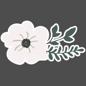 Winter Day Cards Elements- Cream Flower
