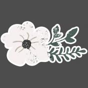 Winter Day Elements- Cream Flower Glitter
