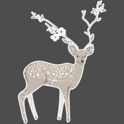 Winter Day Elements- Deer Glitter