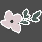 Winter Day Elements- Pink Flower
