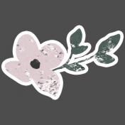 Winter Day Elements- Pink Flower Glitter