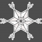 Winter Day Elements- Star 2 Glitter