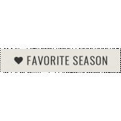 Winter Day Elements- Word Strip Favorite Season