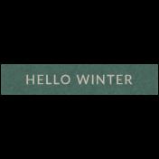 Winter Day Elements- Word Strip Hello Winter