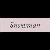 Winter Day Elements- Word Strip Snowman
