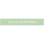 Family Day Elements- Word Strip Happiness