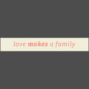 Family Day Elements- Word Strip Love