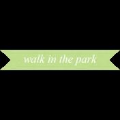 Nature Escape- Word Strip Walk
