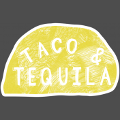 Mexican Food Day Elements- Taco Tequila