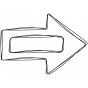 Digital Day Elements- Arrow Label Doodle