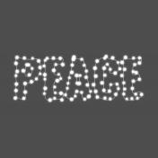 Light String Words- Light String Peace