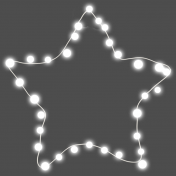 Light Strings & Candy Icons- Star 2 Lights