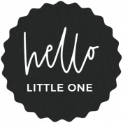 New Day Elements- Hello Little One Tag