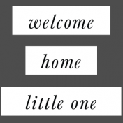 New Day Elements- Welcome Home Little One Word Strip