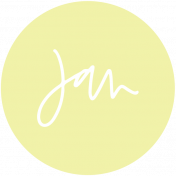 New Day Month Labels- Light Yellow January