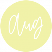 New Day Month Labels- Light Yellow August