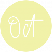 New Day Month Labels- Light Yellow October