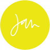 New Day Month Labels- Yellow January