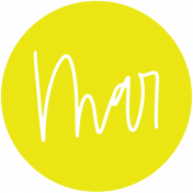 New Day Month Labels- Yellow March