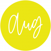 New Day Month Labels- Yellow August