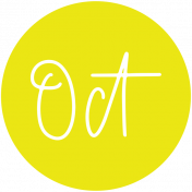 New Day Month Labels- Yellow October