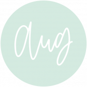 New Day Month Labels- Light Mint August